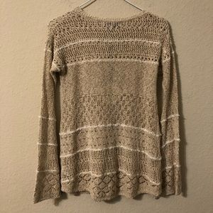 Knox Rose Sweaters - Knox Rose Taupe Sweater With Stripes NWT